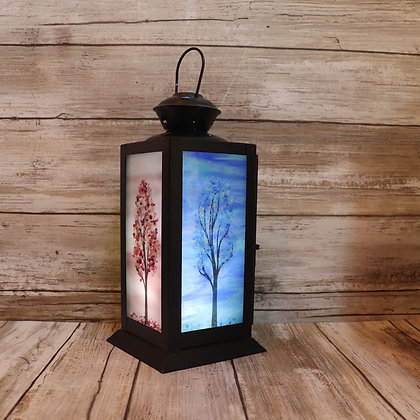 Small Metal Lanterns, Four Season Trees, #2