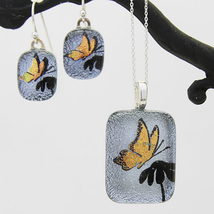 Salmon Butterfly on Silver Wholesale