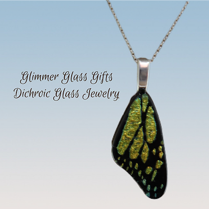 Butterfly Wing Pendant and Earrings