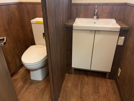 ラージビラ、トイレ&脱衣所リノベーション