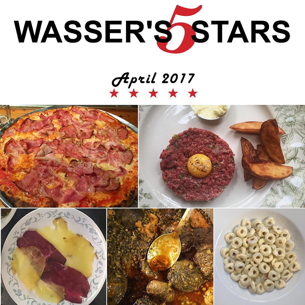 המנות הכי טעימות שאכלתי באפריל 2017