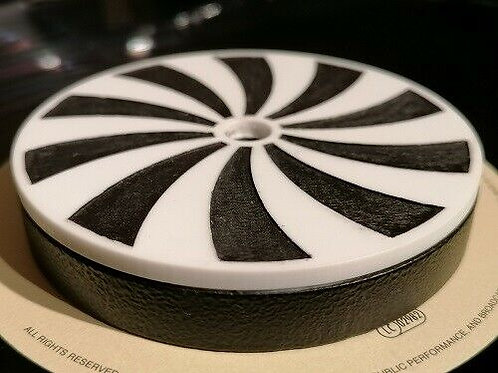 Spinning SPIRAL Carbon Steel Record turntable stabilizer weight 360 grams