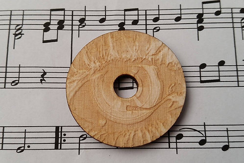 Wooden Adaptor engraved with turn table eye