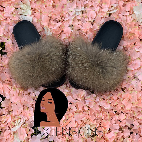 Solid Fur Slides