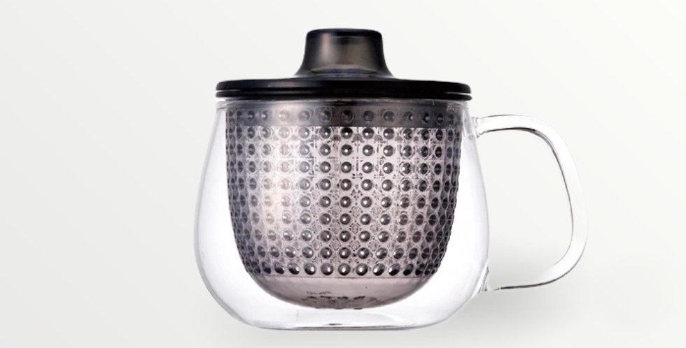 Tea preparation mug (gray)