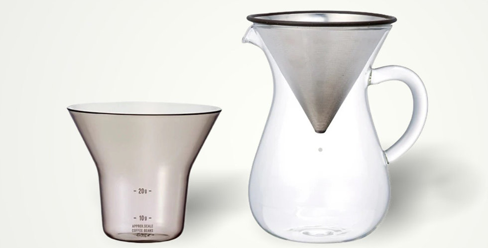 Coffee carafe set 300ml stainless steel
