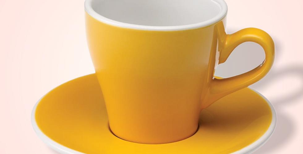 Φλυτζάνι Tulip Latte με πιατάκι (Yellow) 280ml