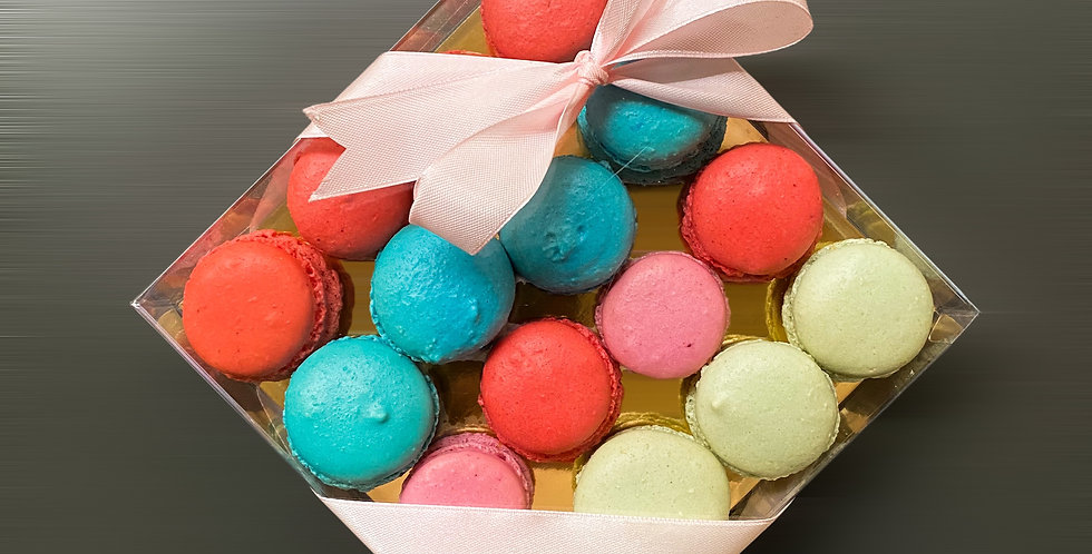 Macarons Box 16 τεμ