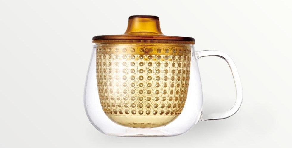 Tea preparation mug (yellow)