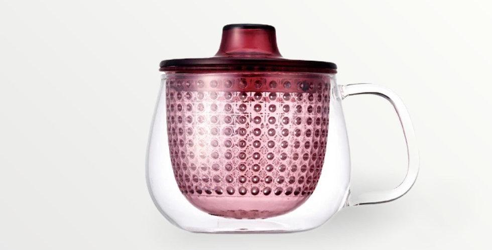 Tea preparation mug (wine red)