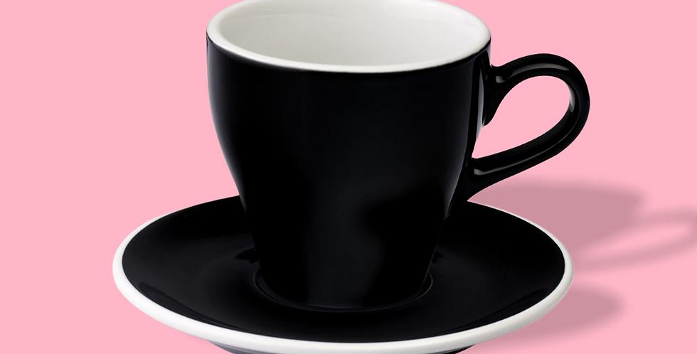 Φλυτζάνι Tulip Cappuccino με πιατάκι (Black) 180ml