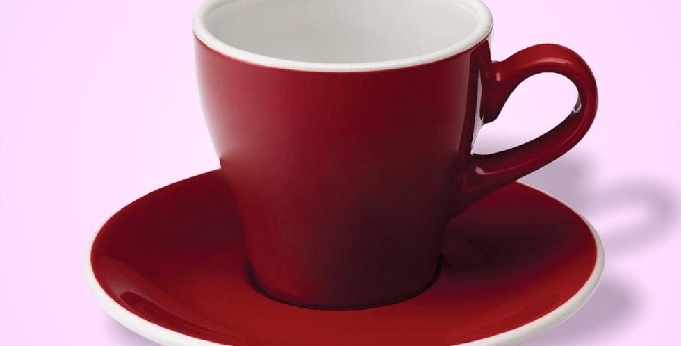 Φλυτζάνι Tulip Latte με πιατάκι (Red) 280ml