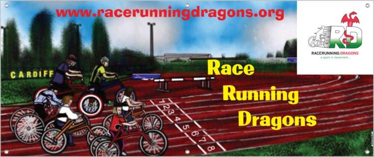 My Race Running Dragons Club Banner Card