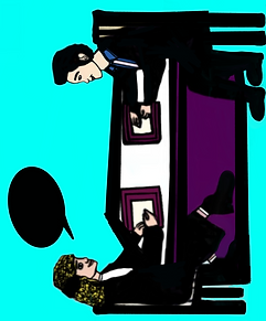 My Digital Drawing of 2People Chatting w