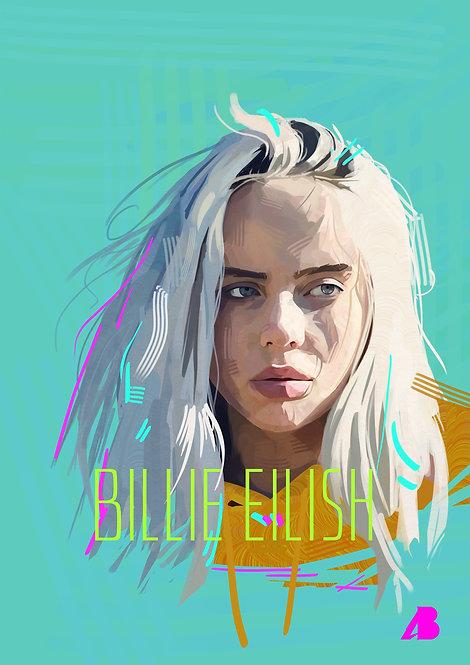 Print Billie Eillish