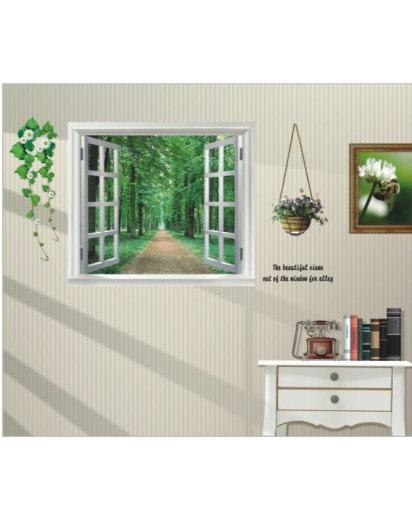 60x90cm, Nature side window Wall sticker