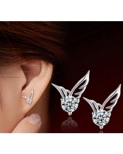 Silver Wing Earrings, Modern design