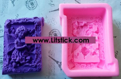 Silicone Mold Fairy Playing vilon,Soap mold,Chocolate Mould,Cake decoration