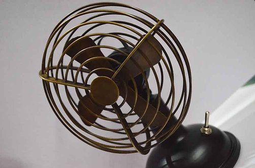 Vintage Table Fan with switch, heavy brass