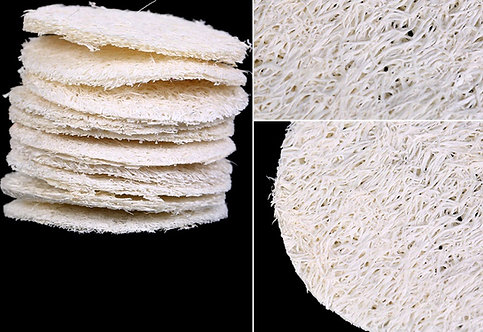 Loofah Disc, Natural soap scrubber set of10