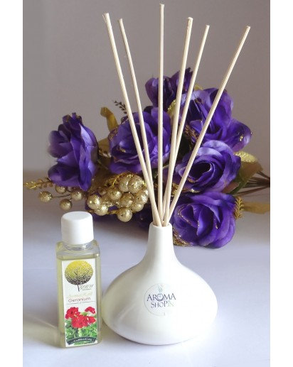 Reed Diffuser SLIM pot with 50ml fragrance bottle and 6 sticks