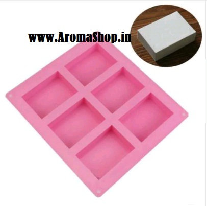 Soap mold tray with 6 grooves, size 8x5.5