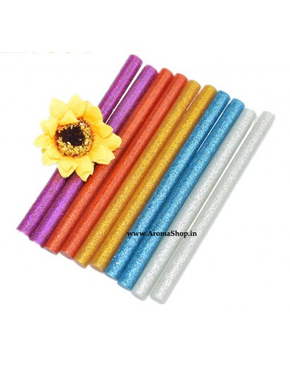 10Pcs Colorful 7x100MM Hot Melt Glue Sticks With glitter