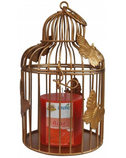 Pillar candle Cage holder, TLH-223