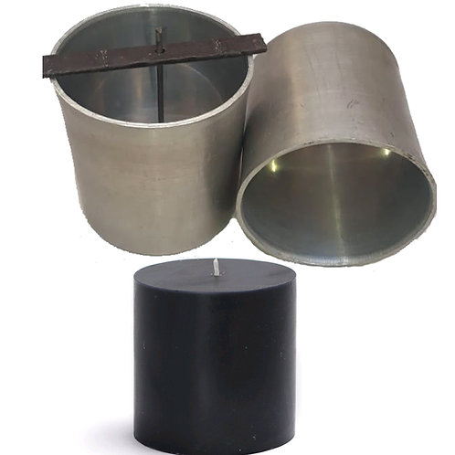 Candle Mold 3x3 pillar with holders