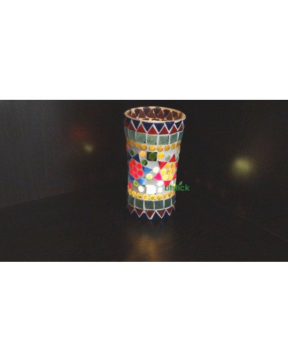 Glass Holder, Beeded vase