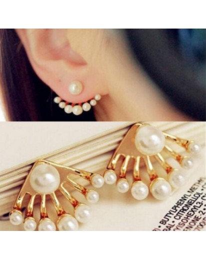 Faux Pearl Earrings, Modern design