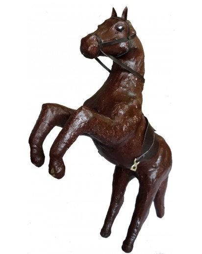 Leather finish, Horse Black