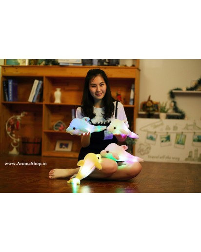 Luminous Plush Dolphin Doll Glowing Pillow with LED light