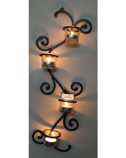 Tealight holder, TLH-43, Wall decor set of 4 votives