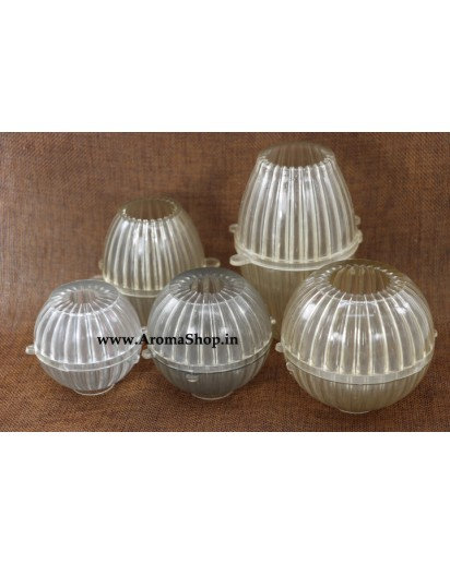 Attractive round elliptical shaped candle making mold