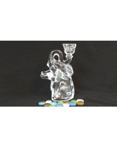 Crystal Elephant, Candle Holder