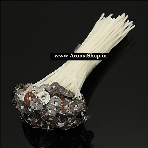 100Pcs/set 140mm Candle Wick Pre Waxed Candle Wick With Sustainers Cotton