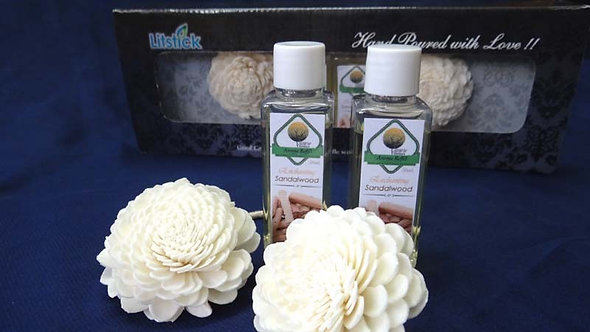 2 Sola Diffuser with 2 Bottles of SANDALWOOD oil 50ml. each