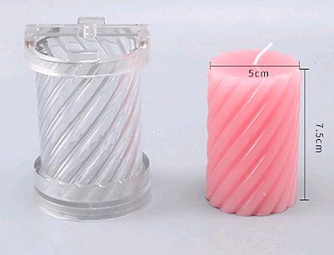 candle molds PVC Spiral pillar 5x8mm