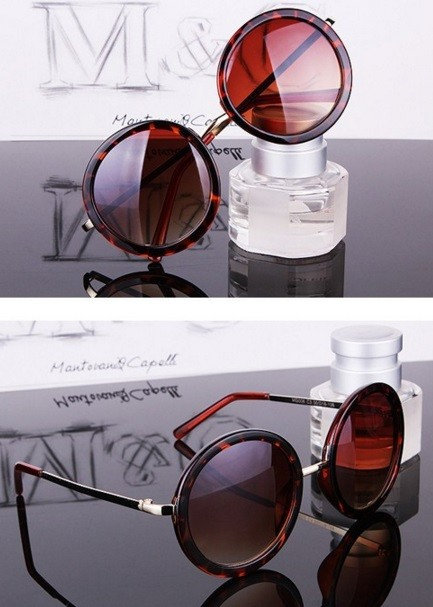 Retro Round Style Women Sunglasses, 4 Colors