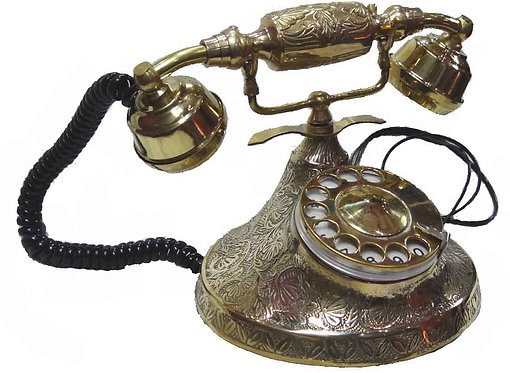 Antique phone, heavy Brass carving body
