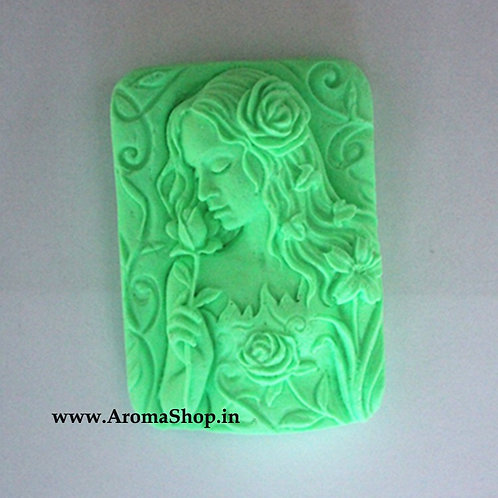 Rose Girl Craft Art Silicone Soap making mold