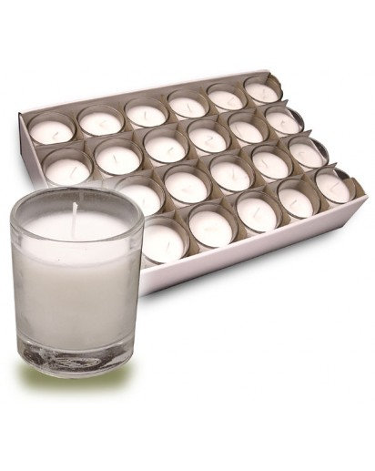 Glass Votive Bulk party pack of 50 candles