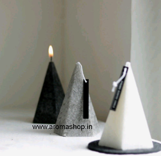 Pyramid Cone Candle Molds, 3 design
