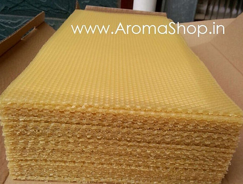 10 Beeswax Sheets 100% NATURAL FOR CANDLE MAKING & CRAFTS