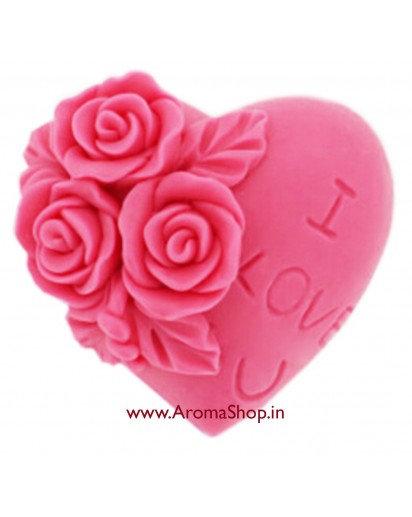 Silicon Mold, Heart shape ILU, Candle Mold, Soap Mould