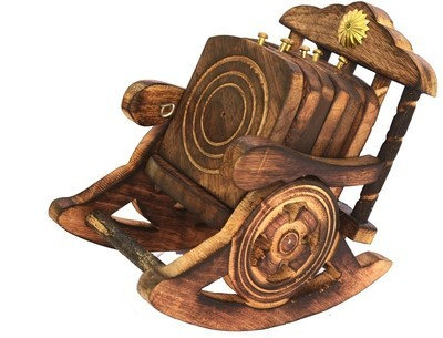 Wooden Coaster set of 6, Chair shape