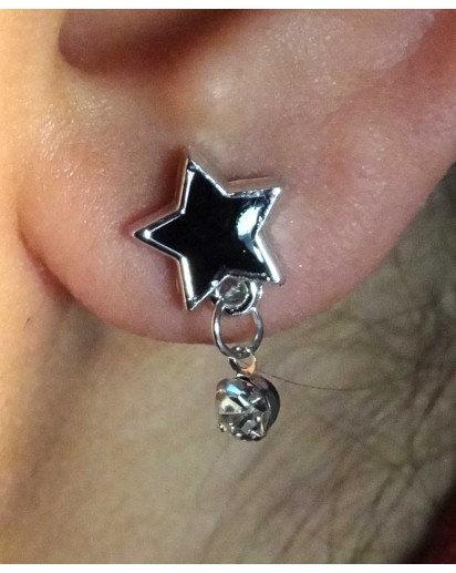 Star Black Ear Rings, Designer Ear Ring