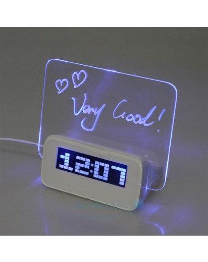 USB LED Message Board Alarm Clock