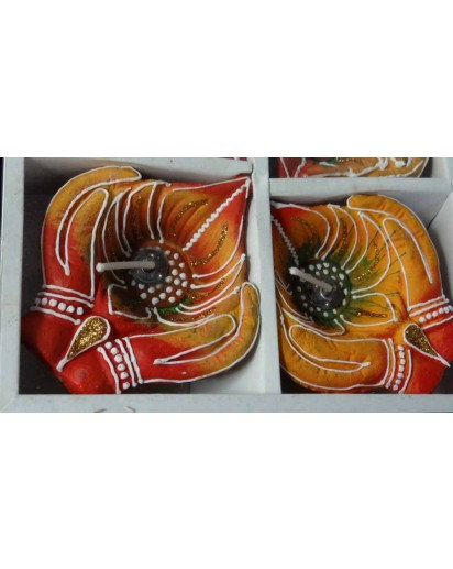 Diya set of 4, Welcome Hands design